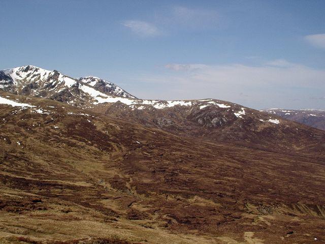 View from the north ridge of Carn nan Gobhar towards Glun Odhar