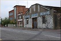J3474 : Disused warehouse, Belfast by Albert Bridge