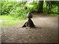 NZ0881 : Wooden mushroom by Newbiggin Hall Scouts