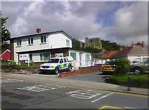 SS6188 : Police Station and Oystermouth Castle by David Luther Thomas