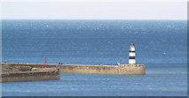 NZ4349 : Seaham harbour lighthouse. by Steve  Fareham
