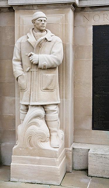 Sculpture in WWII part of Portsmouth Naval War Memorial