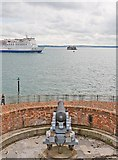 SZ6397 : P & O ferry braves the guns of Southsea Castle by Peter Facey