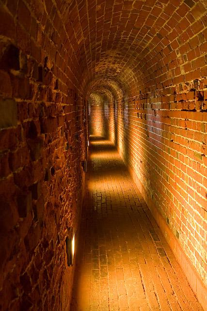 Defensive tunnel in Southsea Castle