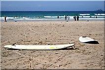 SW3526 : Low Tide on Sennen Beach by Tony Atkin