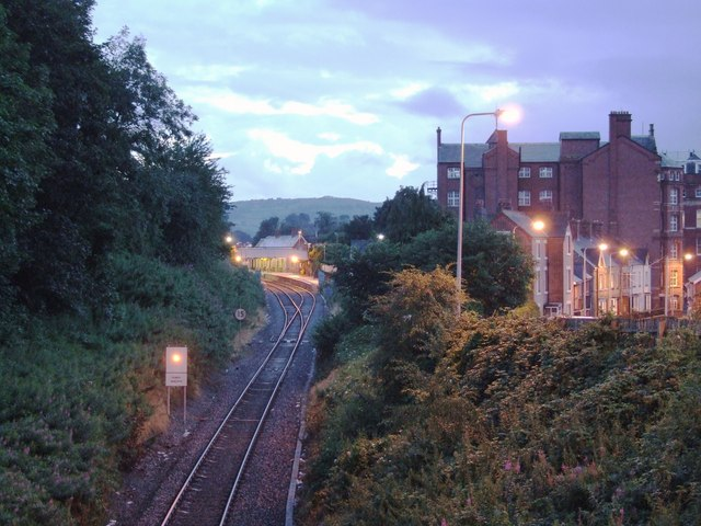 Approaching Newtown station