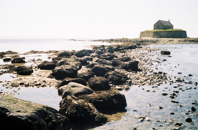 Isthmus to St. Cwyfan's Chapel