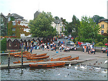 SD4096 : Rowing boats at Bowness on Windermere by Mari Buckley