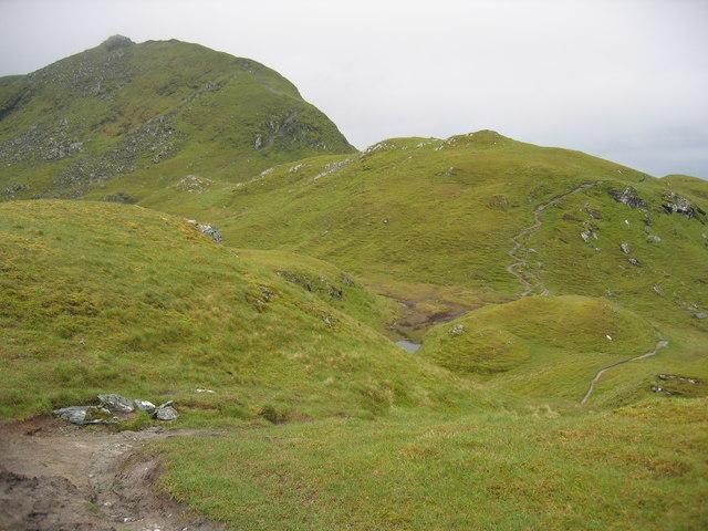 Winding path over the Tarmachan Ridge
