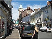 SO2914 : Abergavenny - Cross Street and the Market Hall by Roy Parkhouse
