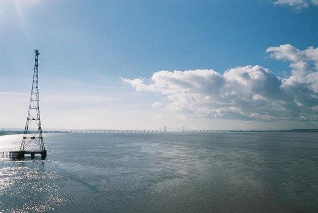 Severn estuary: the big pylon