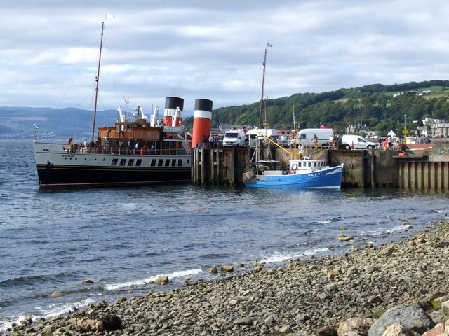 The Paddle Steamer Waverley at Largs by Dave Hitchborne