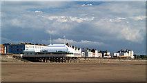 ST3049 : The pier Burnham-on-Sea by Steve  Fareham