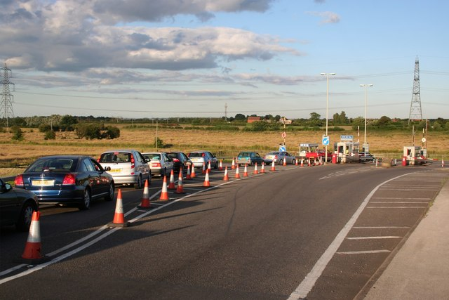 Queue for the toll