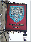 SD6838 : Bayley Arms Hotel pub sign by michael ely