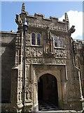 SX3384 : Porch, St Mary Magdalene church, Launceston by Derek Harper