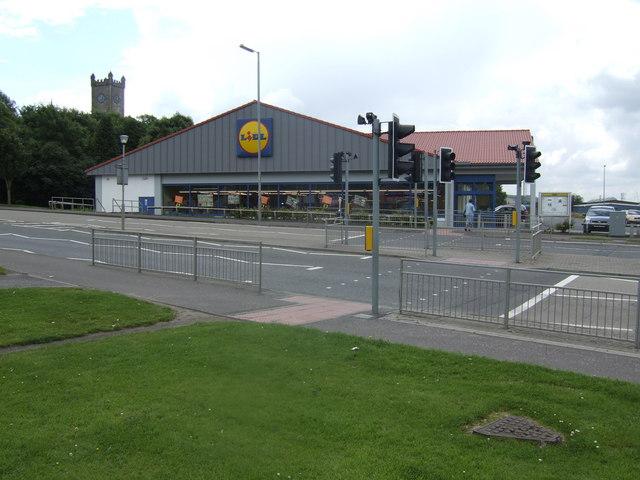 Lidl supermarket, Airdrie Road, Kilsyth