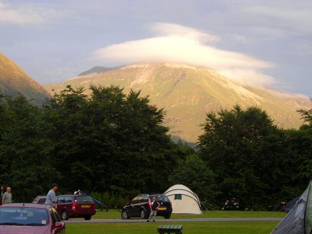 Sgurr a' Mhaim from Glen Nevis Camp Site
