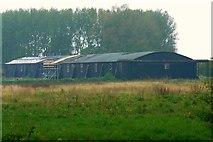 SU0571 : Disused hangar, Yatesbury by Brian Robert Marshall