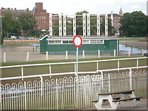 SO8455 : Winning Post at Worcester Racecourse by Trevor Rickard