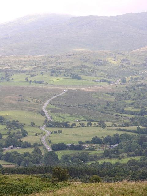A 487 towards Minffordd