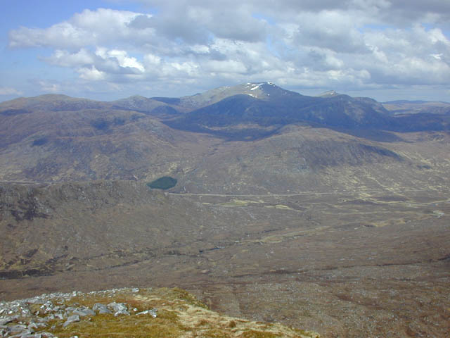 View north from the north end of Beinn Liath Mhor Fannaich