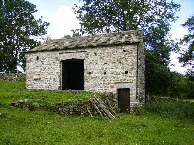 A classic restored Dales barn near Dent