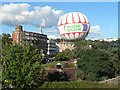 SZ0891 : Bournemouth: the balloon comes down by Chris Downer
