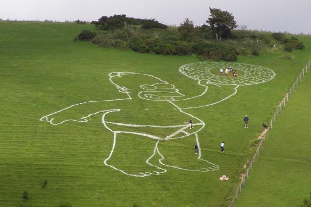 Giant Homer Simpson on Giant Hill, Cerne Abbas