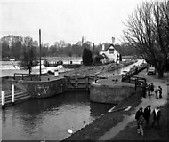SU5980 : Goring Lock, River Thames by Dr Neil Clifton