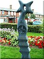 NY2466 : Millennium milepost at Eastriggs by Rose and Trev Clough
