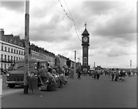 SY6879 : Weymouth, Promenade and Jubilee Clock Tower by Dr Neil Clifton