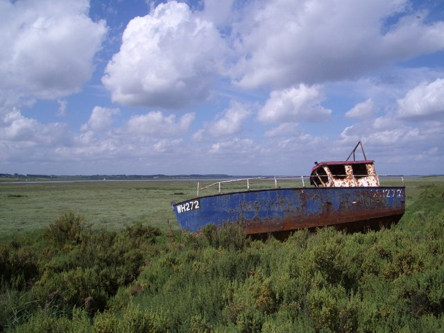 Boat Washed Up from the Cley Channel