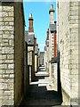 SU1484 : Alley from Taunton Street to Bristol Street, Swindon (2 of 2) by Brian Robert Marshall