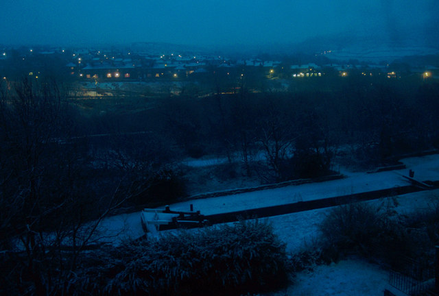 View from house overlooking Colne Valley: Winter