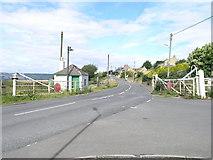 NZ2857 : Rail Crossing. Eighton Banks. by Donald Brydon