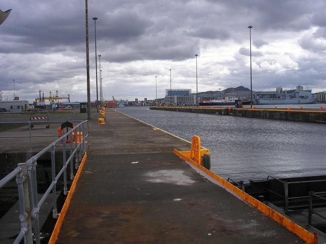 The Locks at Leith Docks