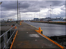 NT2677 : The Locks at Leith Docks by Sandy Gemmill