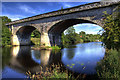 SE4843 : Old railway viaduct, Tadcaster by Andrew Whale