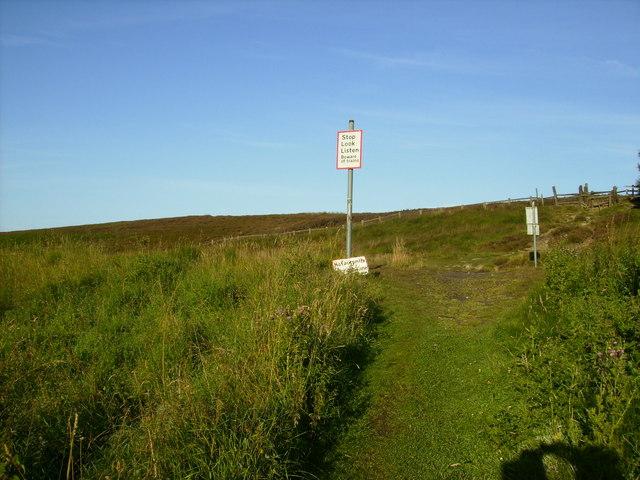 Railway Crossing on footpath