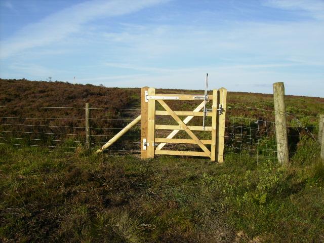 Gate on permissive bridleway at Fylingdales