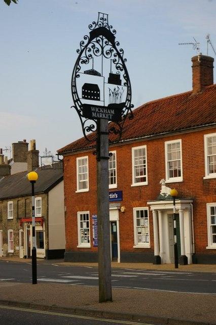 Wickham Market village sign