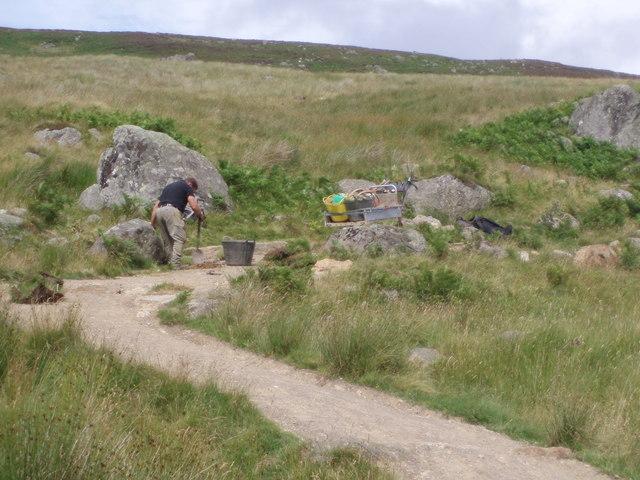 Footpath Maintenance on the Loch Brandy Path