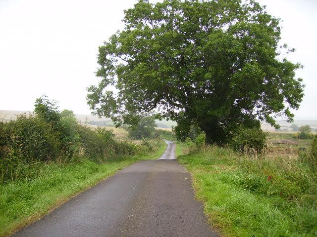 Lane leading to West Horton