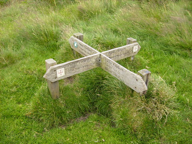Footpath Junction on St Cuthbert's Way