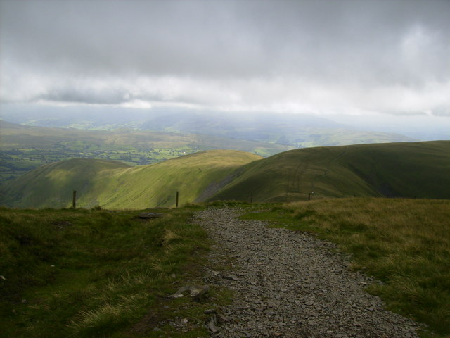 View at Calders on the ridge walk back to Sedbergh