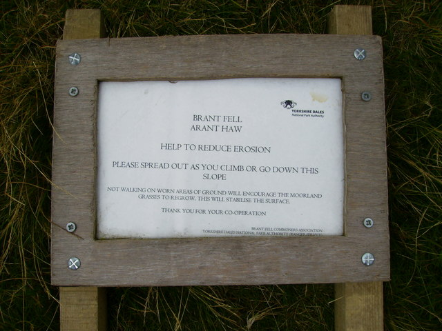 Advisory sign for walkers in The Howgill Fells