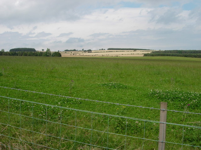 View over fields to The Letch