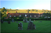 SU7691 : Turville from the churchyard of St Mary's by Hugh Chevallier