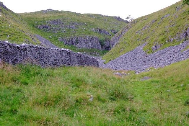 Cliffs above scree